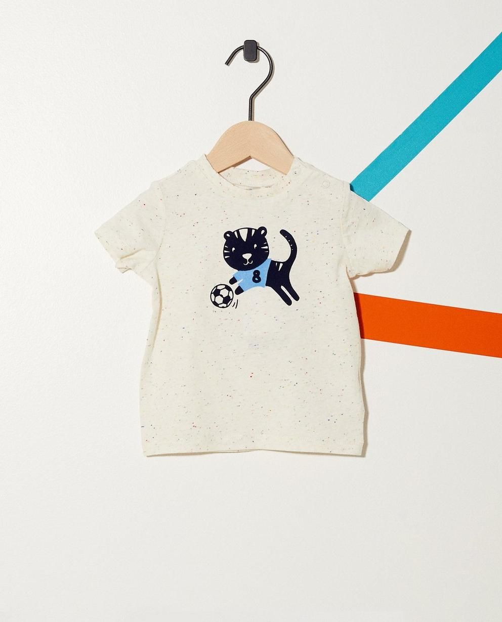 T-Shirt mit Tigerprint - getüpfelt - JBC